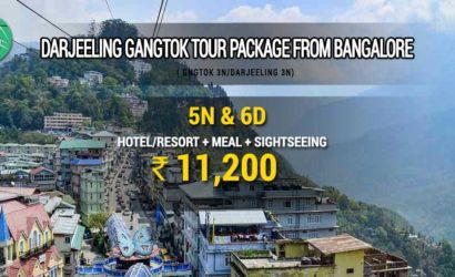 Darjeeling Gangtok tour package from Bangalore