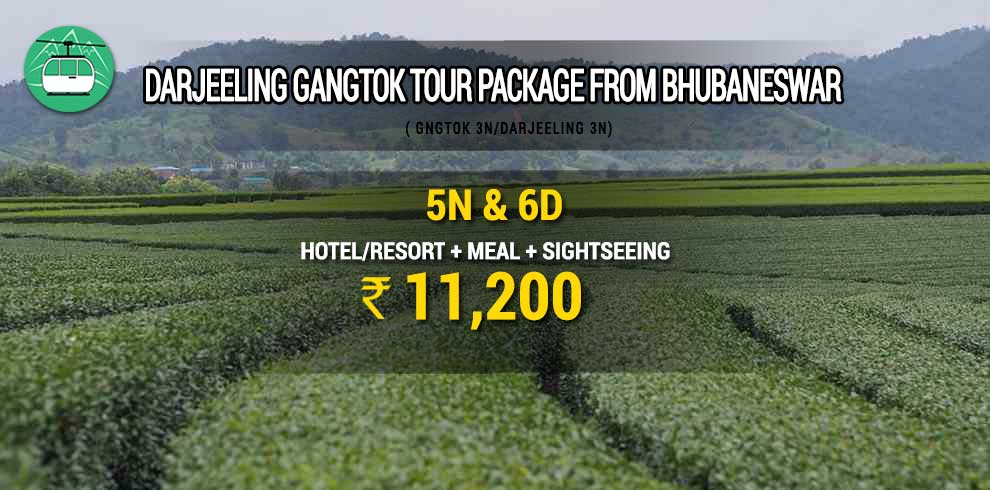 Darjeeling Gangtok tour package from Bhubaneswar