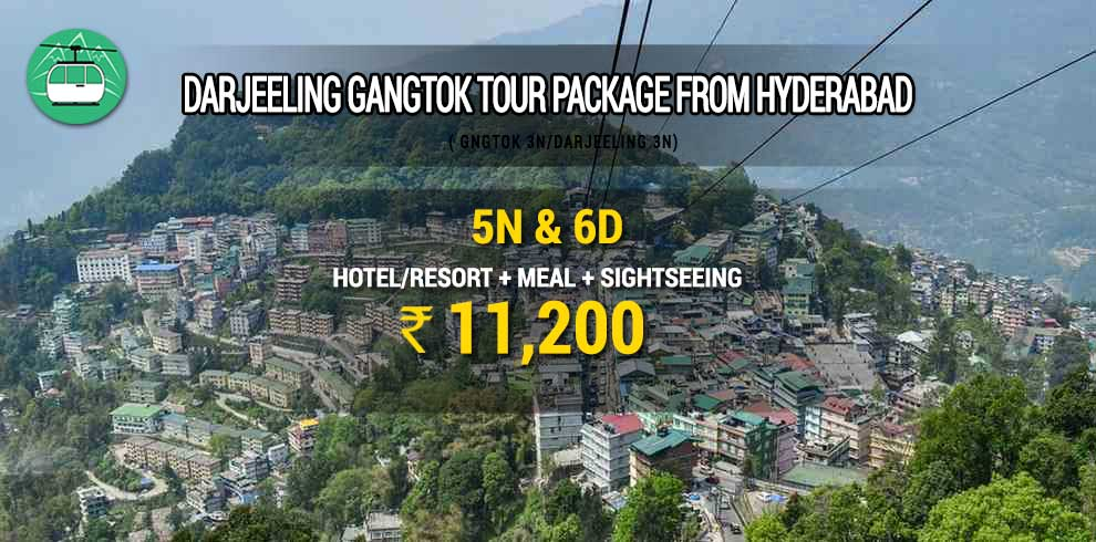 Darjeeling Gangtok tour package from Hyderabad