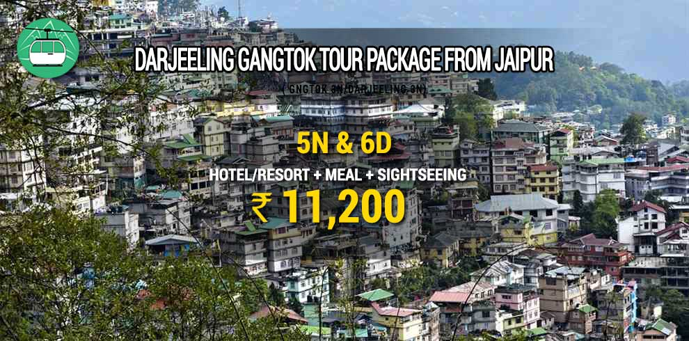 Darjeeling Gangtok tour package from Jaipur