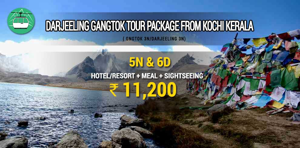 Darjeeling Gangtok tour package from Kochi Kerala
