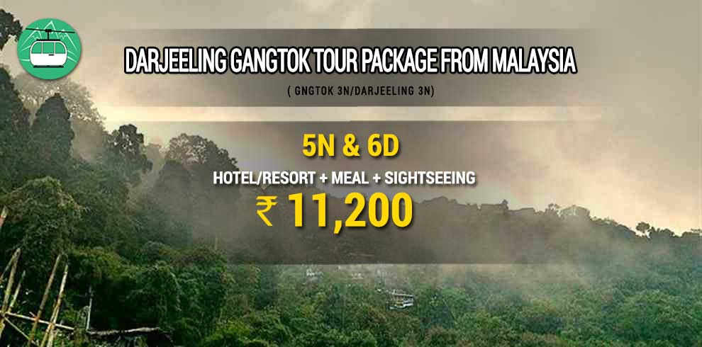 Darjeeling Gangtok tour package from Malaysia