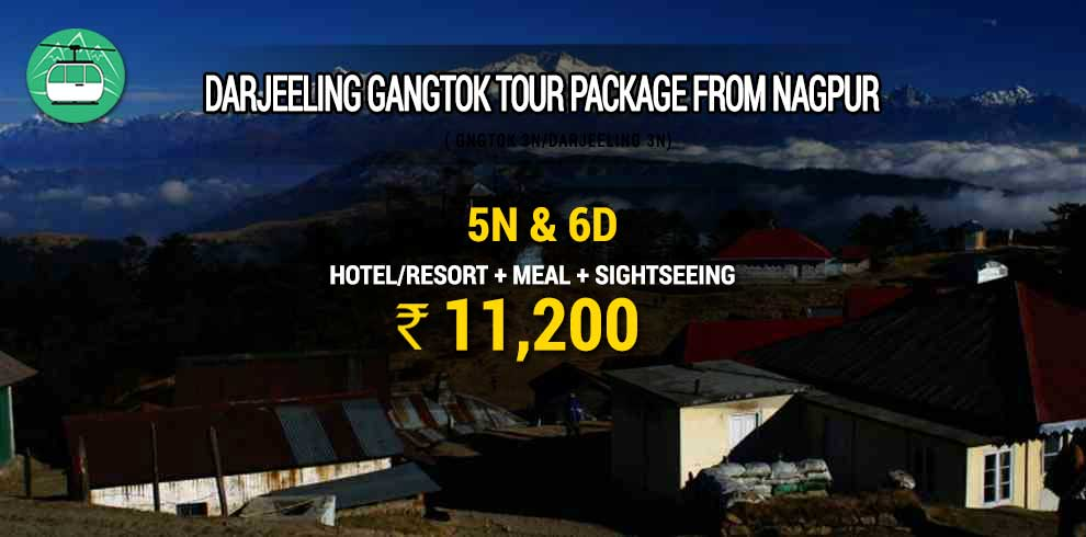Darjeeling Gangtok tour package from Nagpur