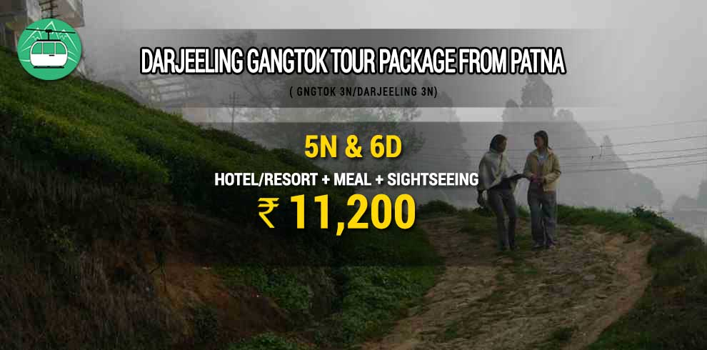 Darjeeling Gangtok tour package from Patna