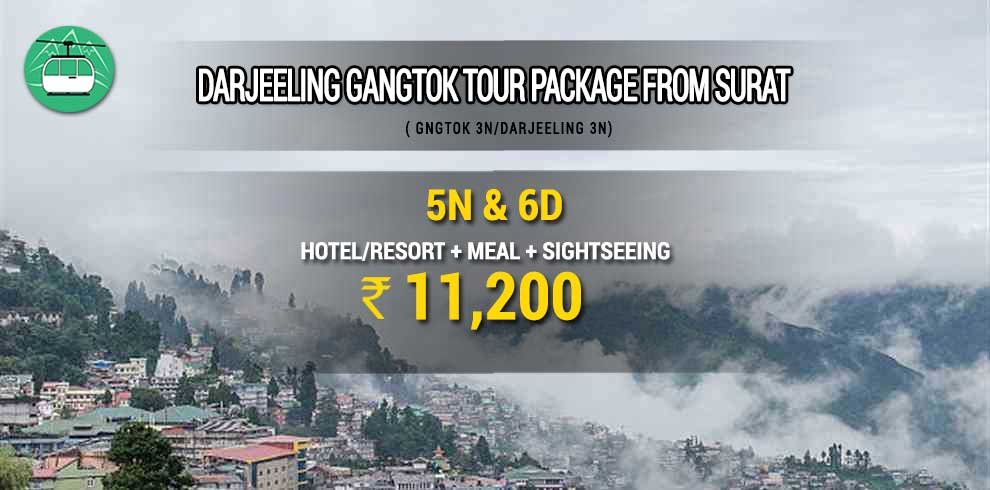Darjeeling Gangtok tour package from Surat