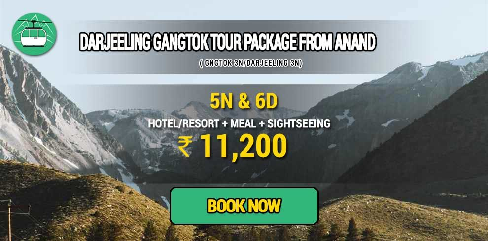 Sikkim Darjeeling Gangtok tour package from Anand