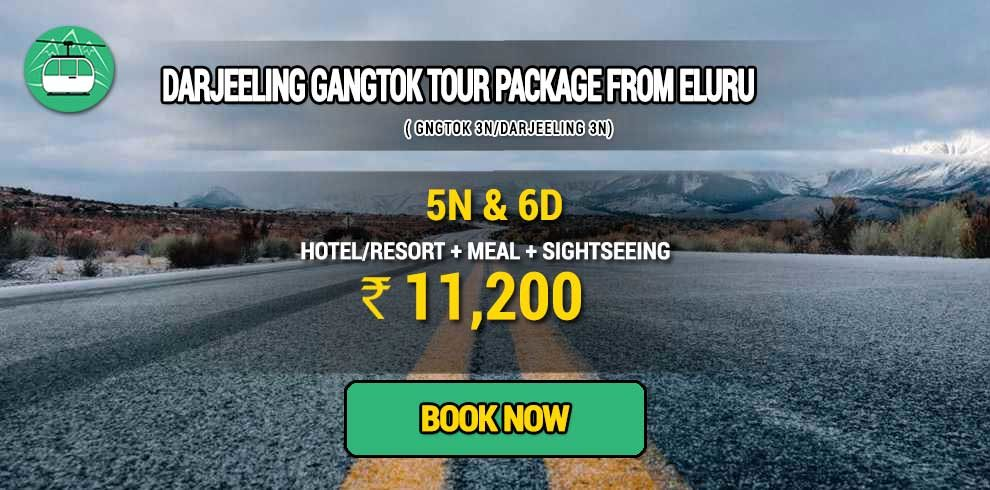 Sikkim Darjeeling Gangtok tour package from Eluru