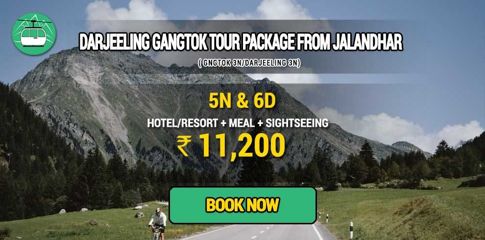 Darjeeling Gangtok package from Jalandhar