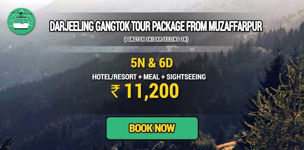 Darjeeling Gangtok package from Muzaffarpur