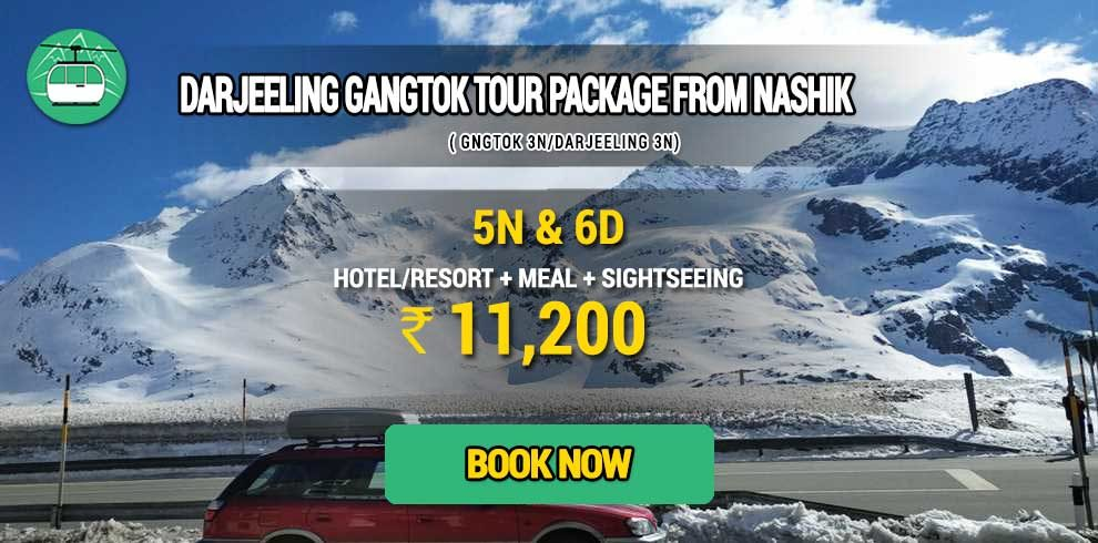 Darjeeling Gangtok package from Nashik