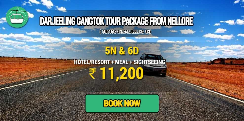 Darjeeling Gangtok tour package from Nellore