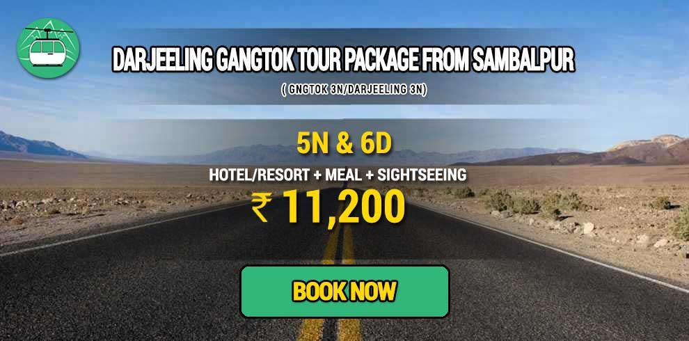Sikkim Darjeeling Gangtok tour package from Sambalpur