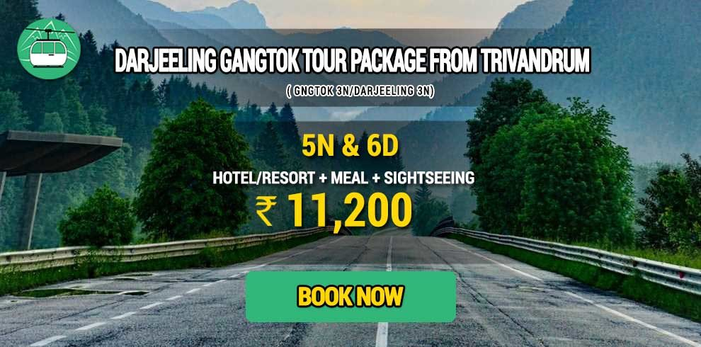 Darjeeling Gangtok package from Thiruvananthapuram