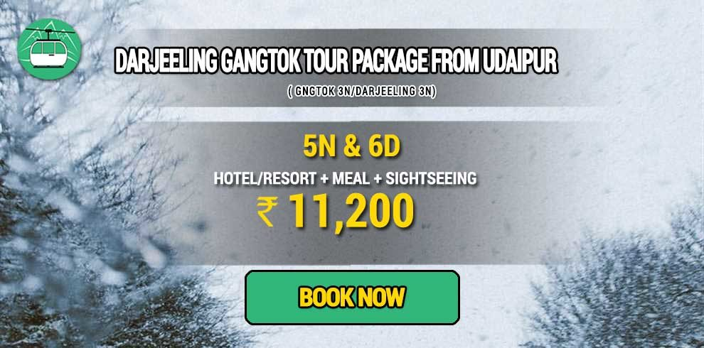 Darjeeling Gangtok package from Udaipur