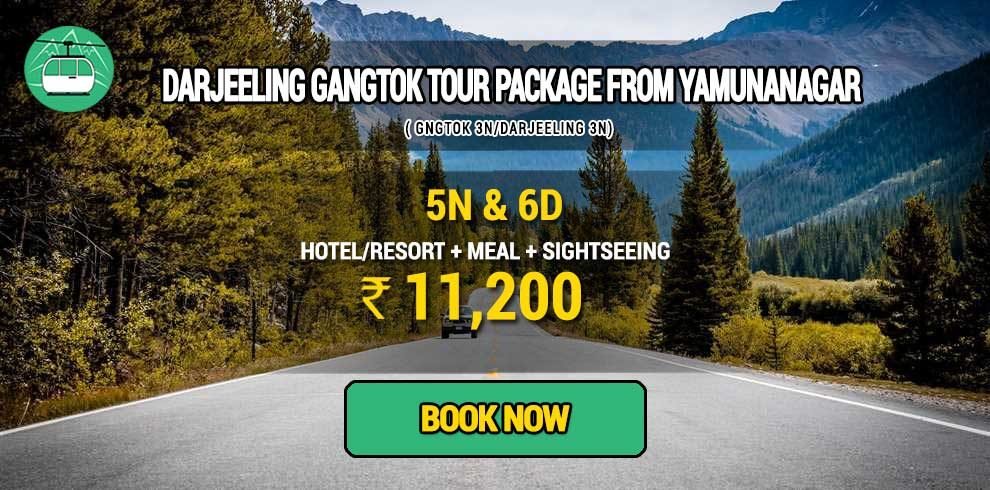 Darjeeling Gangtok package from Yamunanagar