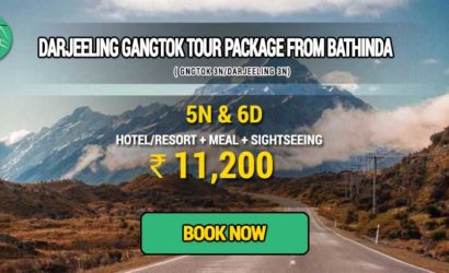 Sikkim Darjeeling Gangtok tour package from Bathinda