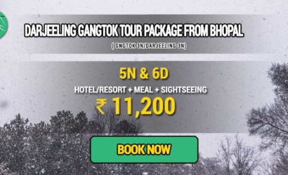 Sikkim Darjeeling Gangtok tour package from Bhopal