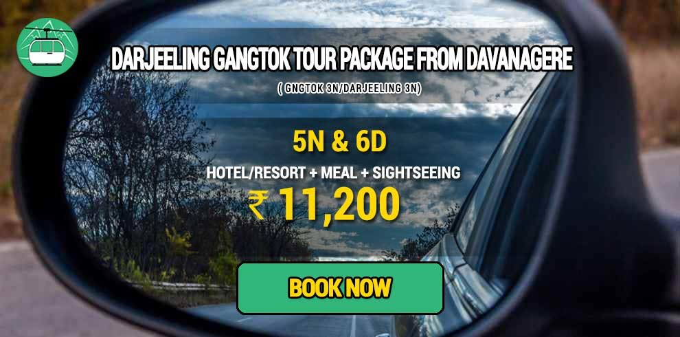 Sikkim Darjeeling Gangtok tour package from Davanagere
