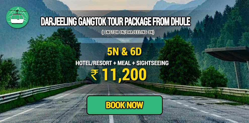 Sikkim Darjeeling Gangtok tour package from Dhule
