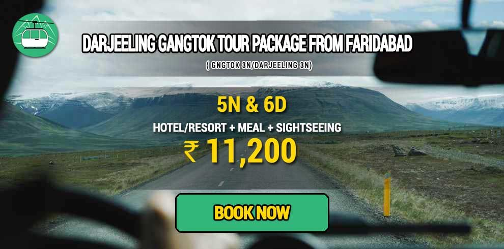 Sikkim Darjeeling Gangtok tour package from Faridabad