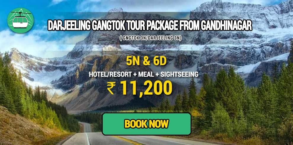 Sikkim Darjeeling Gangtok tour package from Gandhinagar