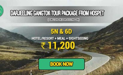 Sikkim Darjeeling Gangtok tour package from Hospet
