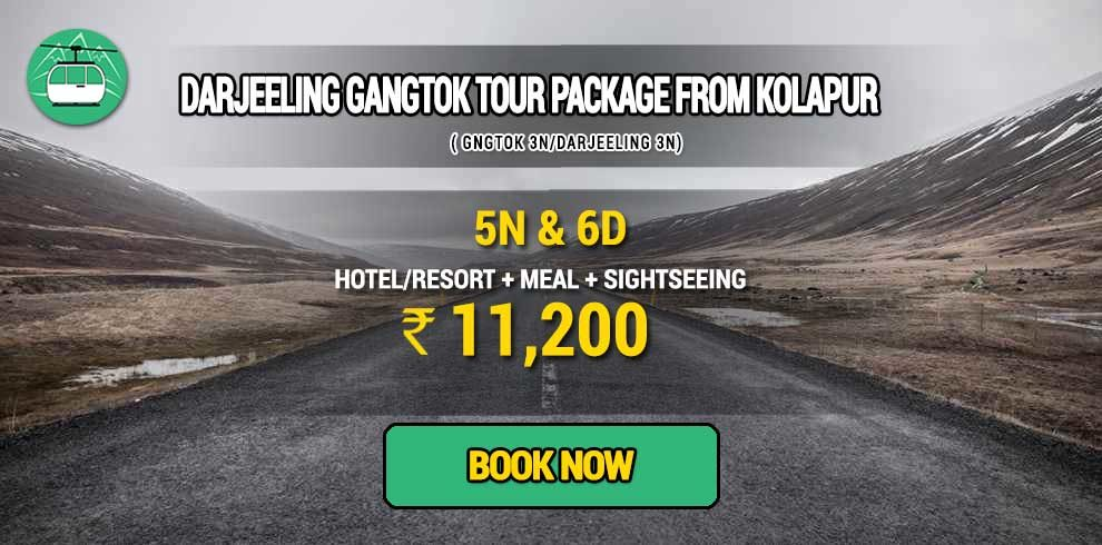 Sikkim Darjeeling Gangtok tour package from Kolapur