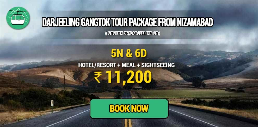 Sikkim Darjeeling Gangtok tour package from Nizamabad