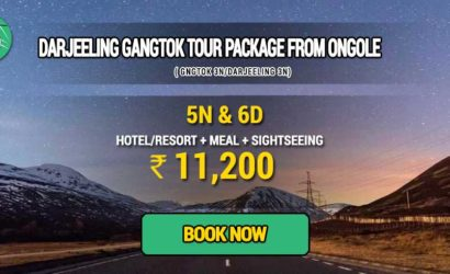 Sikkim Darjeeling Gangtok tour package from Ongole