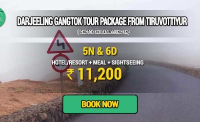 Sikkim Darjeeling Gangtok tour package from Tiruvottiyur